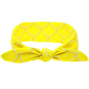 Baby/kinder Knoop haarband lemon