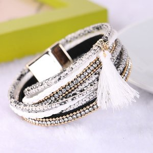 Wikkel armband - Wit