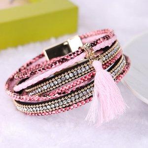 Wikkel armband - Roze