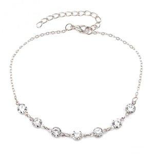 Enkelbandje strass  - Zilver