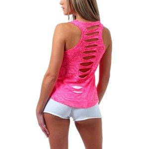 Doorschijnend topje/shirt roze maat M