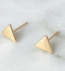 Oorknopjes driehoek goud