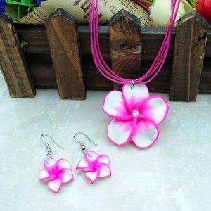 Kinder sieraden set bloem - Roze