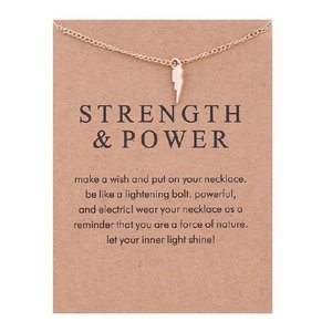 """Giftcard met ketting """"Strength & Power"""""""