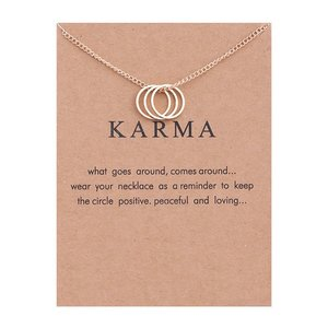 """Giftcard met ketting """"Karma"""""""
