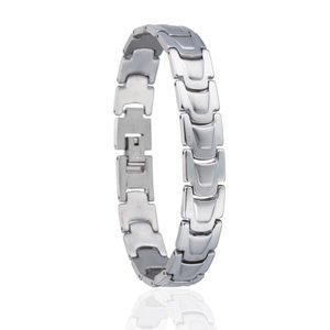 Heren schakel armband stainless steel