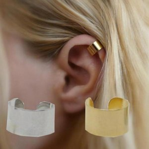 Simpele brede earcuff -  Goud