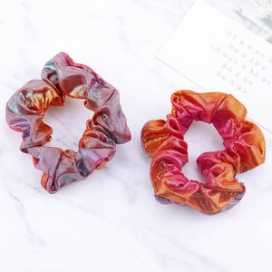 Scrunchie mermaid roze/rood