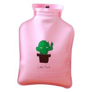 Handwarmer / mini kruik -  roze cactus