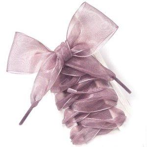Brede Organza veters  - Oud roze