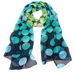 """Dunne sjaal """"dots"""" blauw/Groen"""