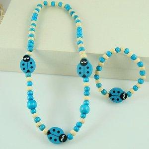 Kinder sieraden setje lieveheersbeestje blauw