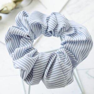 Scrunchie streep -L.blauw