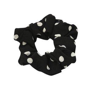 Scrunchie stip - zwart