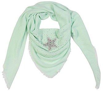 Sjaal strass star - Mint groen