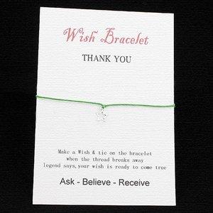 Wishing bracelet star - Groen