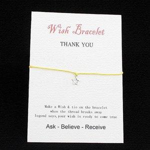 Wishing bracelet star - Geel
