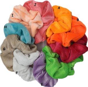 Scrunchies velours - Div kleuren
