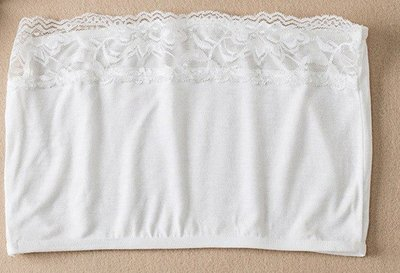 Bandeau met kant - Wit One size