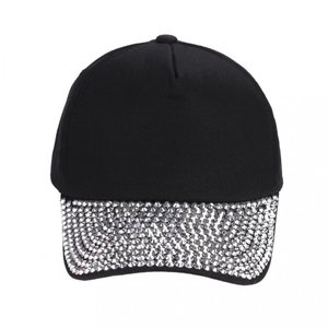 Cap/pet  zilveren studs - Zwart
