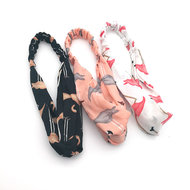 Stoffen haarband flamingo print