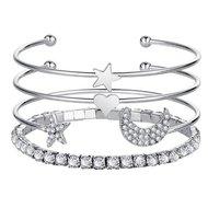 armbanden set zilverkleurig