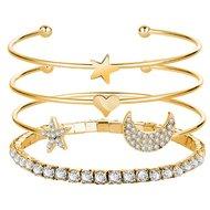4 delige goudkleurige armbanden set