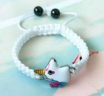 Armband wit met eenhoorn hoofdje